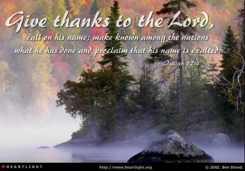 Image result for Isaiah 12:4