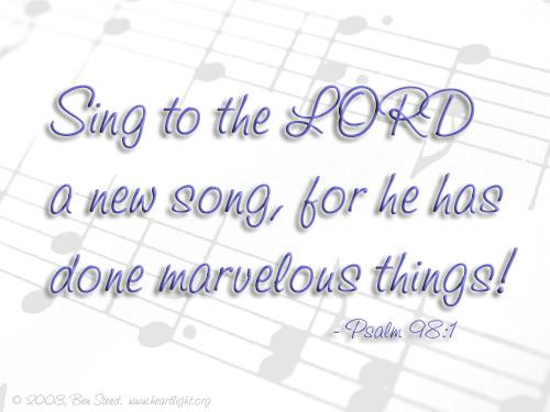 Inspirational illustration of Psalm 98:1
