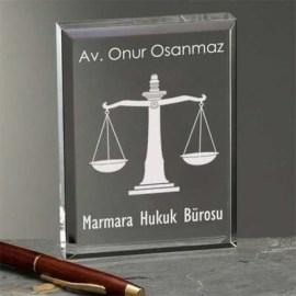 Avukata Özel Hediye Akrilik Plaket
