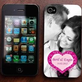 Kalp Desenli iPhone 4-4s Kılıfı