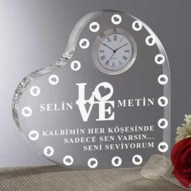 Romantik Yılbaşı Masa Saati