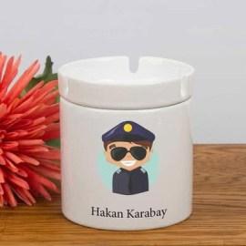 Polisler İçin Mutlu Mesut Kül Tablası
