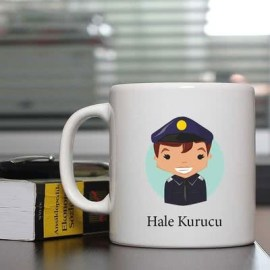 Polislere Özel Mutlu Mesut Kahve Kupası