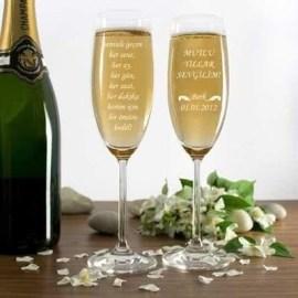 Erkek Sevgiliye Özel Yılbaşı Hediyesi Şampanya Kadehi