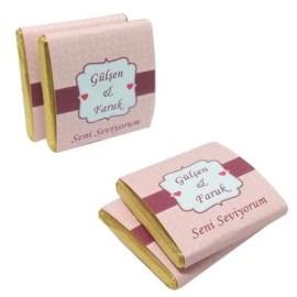 Sevgiliye Seni Seviyorum Mesajlı Çikolata Hediyesi