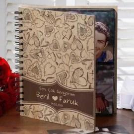 Sevgiliye Yılbaşı Hediyesi Kalp Tasarımlı Albüm