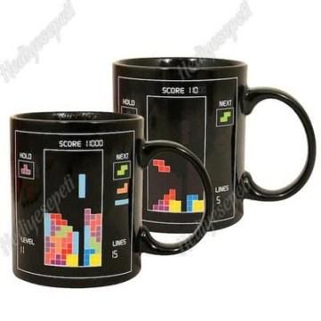Tetris Tasarımlı Sihirli Kupa