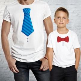 Babalar Gününe Özel Baba Çocuk Çift Tişörtü