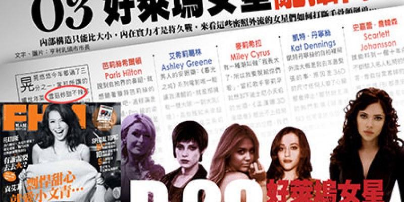 FHM專欄:好萊塢女星亂攝門