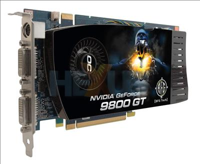 BFG NVIDIA GeForce 9800 GT whats in a name Graphics