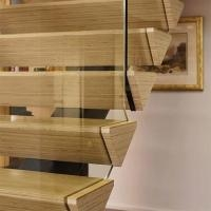 Villa Stair Design Mono Beam Glass Railing Steel Wood Staircase | Steel And Wood Staircase | Glass | Custom | Handrail | Contemporary | Inside
