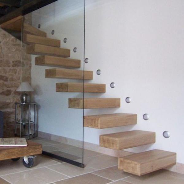 Wholesale Frameless Glass Railing Solid Rubber Wood Steps Build | Wood Steps For Sale | Wood Hand | Home | Design | Non Slip | Platform