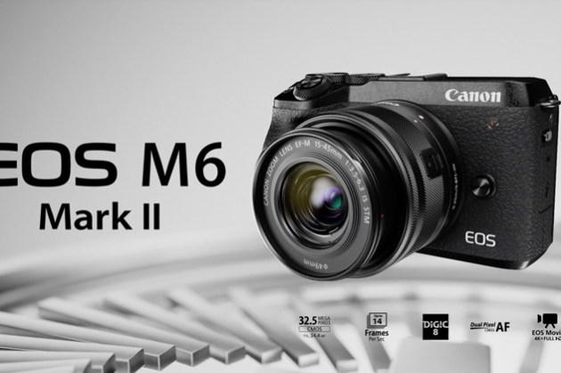 [3C NEWS] Canon EOS M6 Mark II 規格登場,有感提昇對焦焦,以及最高 14 張連拍速度