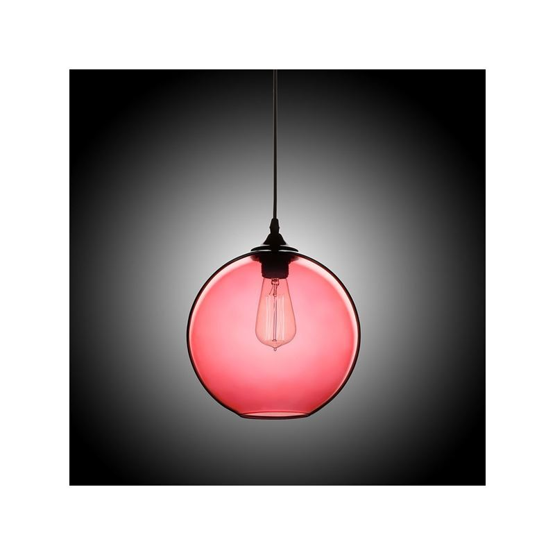 In Stock Modern Minimalist Glass Pendant Light Globe Pendant With 1 Light Dull Red Color