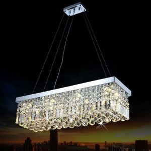 Ceiling Lights Modern K9 Crystal Pendant Light Chandeliers Lighting Hanging Lamps Fixtures With 80cm