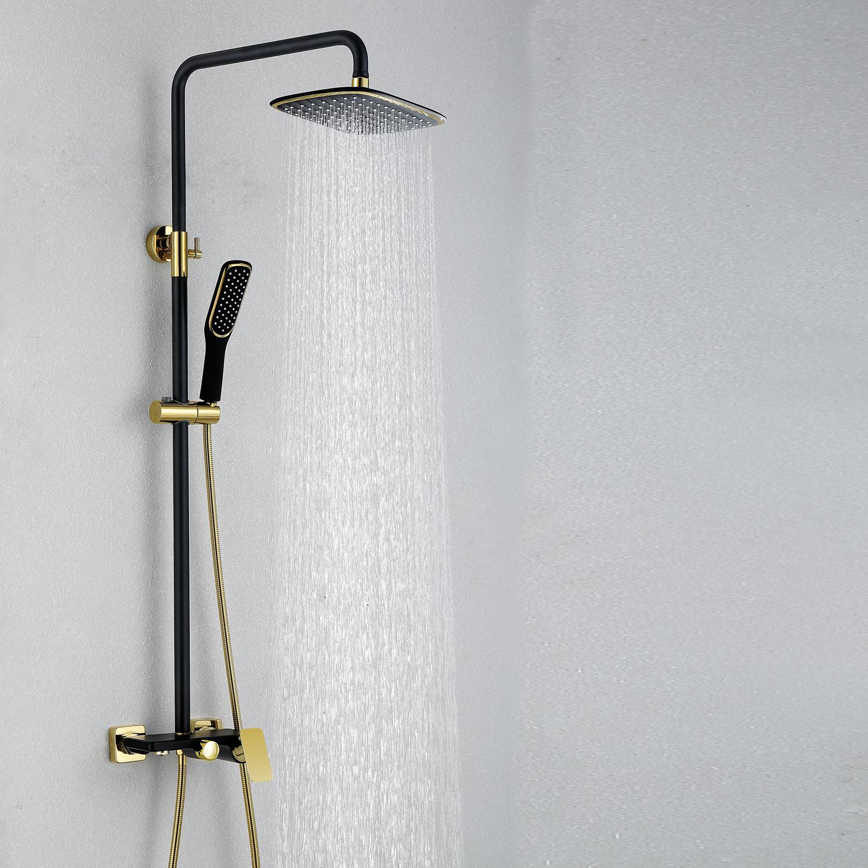 European Modern Copper Shower Sets Hot And Cold Shower