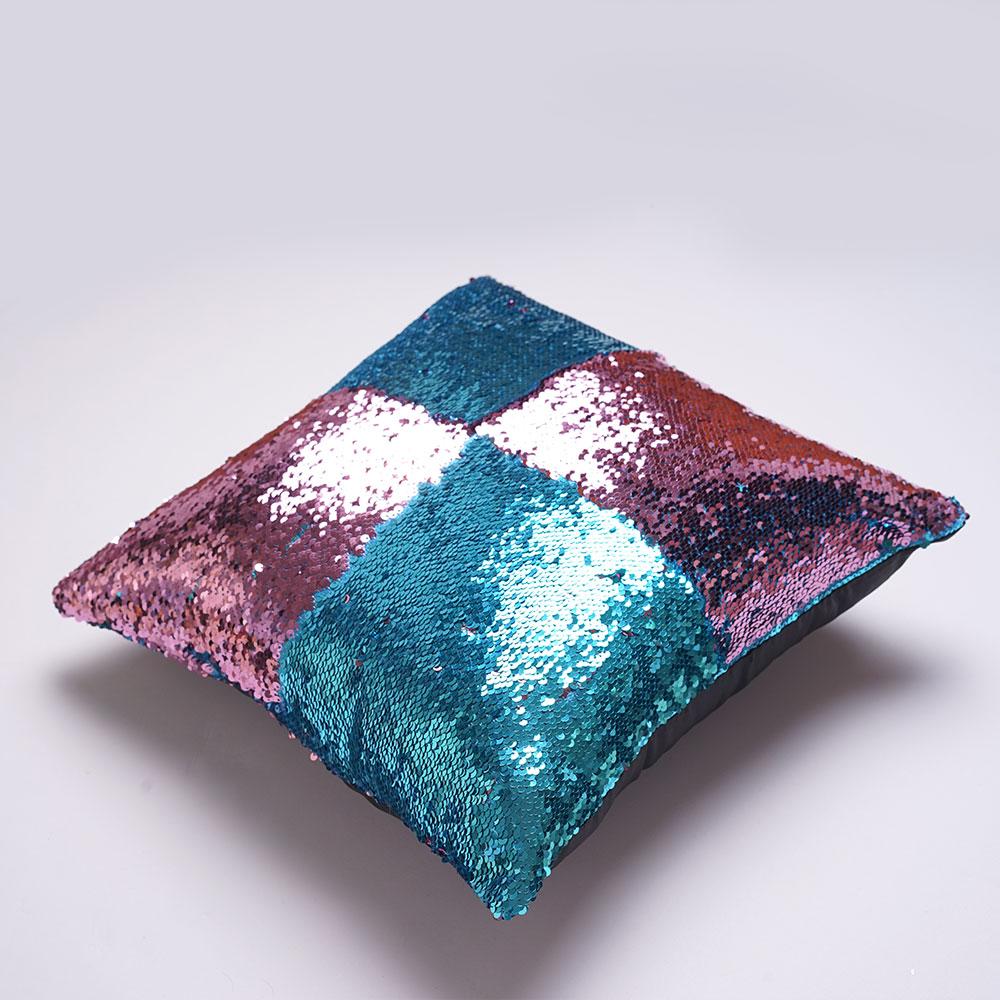 mermaid sequins pillow cover magic diy