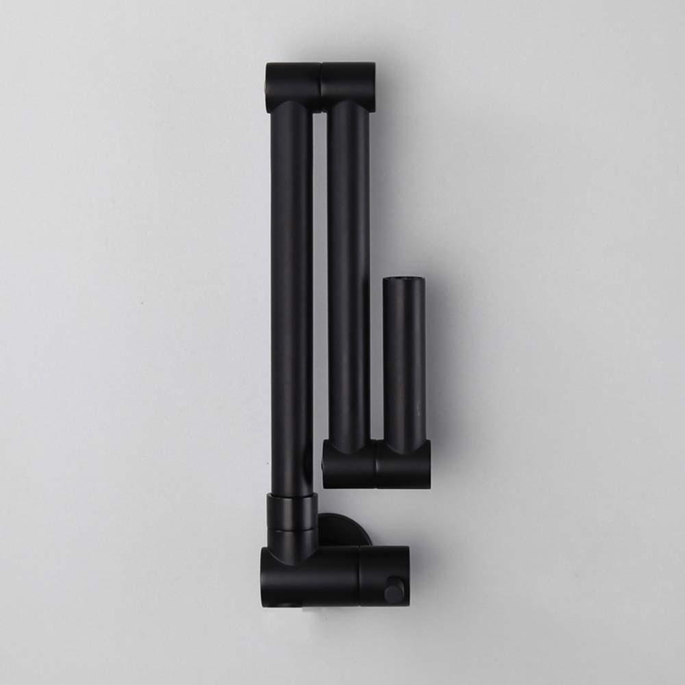 black pot filler faucet creative foldable kitchen tap