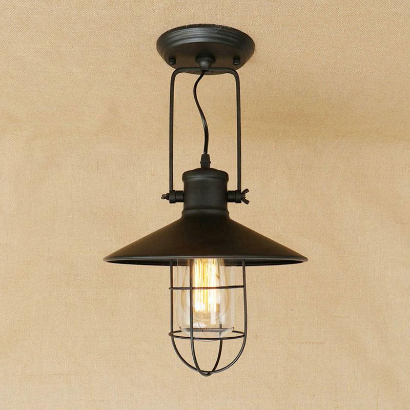 industrial vintage ceiling light american rustic iron light living room dining room clothing shop lighting