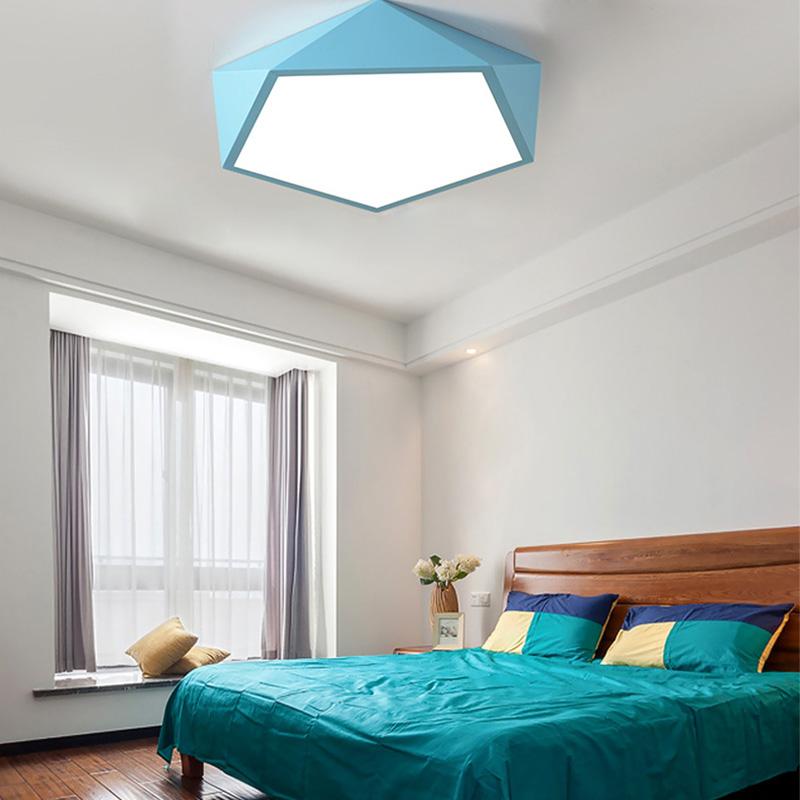 contemporary led flush mount diamond design ceiling light home lighting living room bedroom study room lamp
