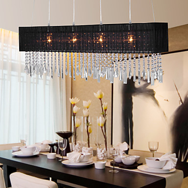 Out Of Stock Stylish Pendant Light With 4 Lights Fabric