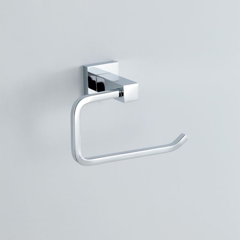 Modern Contemporary Silver Chrome Finish Toilet Paper Rack