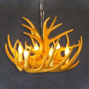 In Stock Rustic Cascade Chandelier Antler Lighting With 6 Lights Yellow Dining Room Ideas Living Bedroom Ceiling