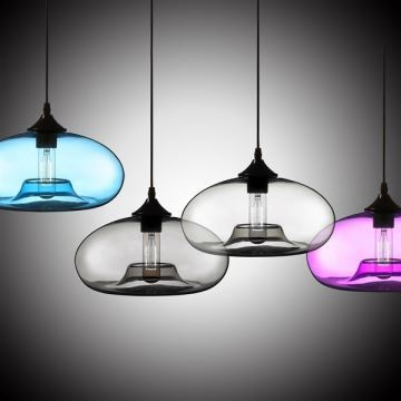 lustre en verre d28cm moderne decoratif suspension en conception de bulle luminaire cuisine lampe pour salle chambre