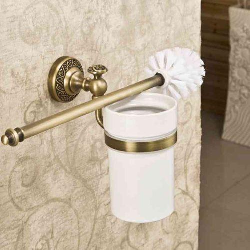 porte brosse de toilette retro accessoires salle de bain en cuivre le fond du trou sans trous deux modeles