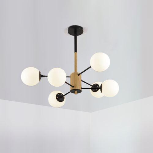 lampe en bois lustre design original pour salon chambre a coucher 2 modeles