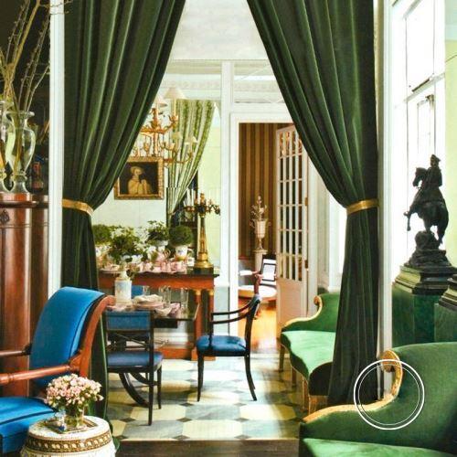 rideau isolant en velours teint vert bouteille pour salon chambre a coucher