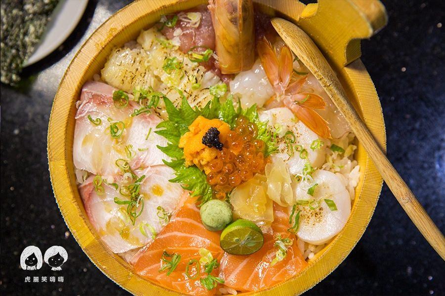 福川町(高雄美食 三民區)超澎湃木盆丼飯!日本料理必吃豪華海景丼,份量十足的海鮮天婦羅