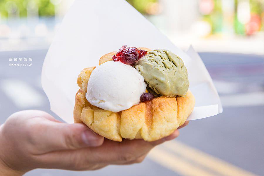 亞樂格(高雄)超夢幻冰淇淋菠蘿,夏季甜品!文化中心可愛麵包店