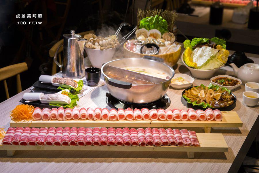 愛食鍋(高雄)超霸氣長肉盤麻辣鴛鴦鍋,肉控激推!鴨血豆腐無限量供應