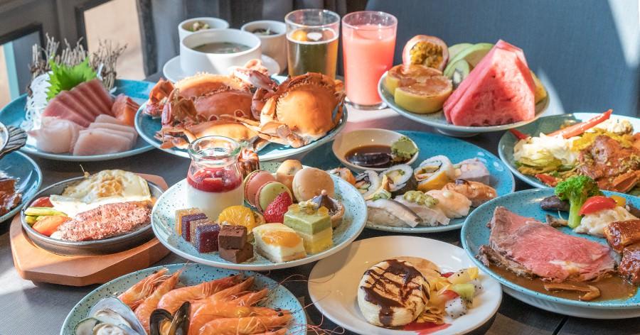 漢來海港自助餐廳(高雄)43樓全新改裝開幕!20種海鮮吃到飽,還有鐵板牛排.珍珠奶茶.舒芙蕾.牛肉湯