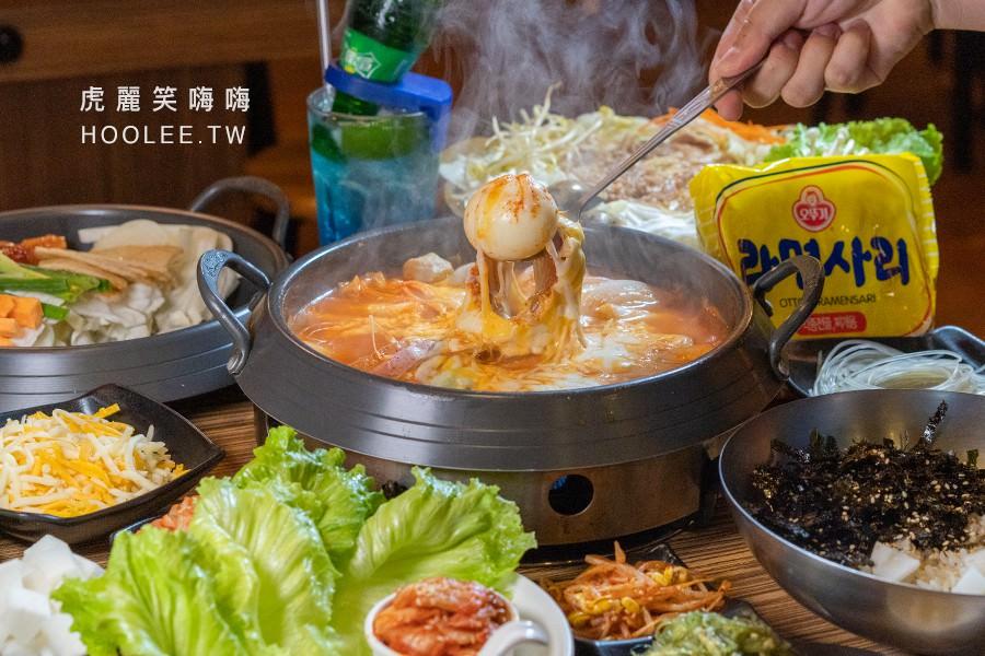 銅一鍋韓式料理(高雄)超犯規療癒鍋物!必吃拉絲起司年糕鍋,桌邊現炒起司春川雞排