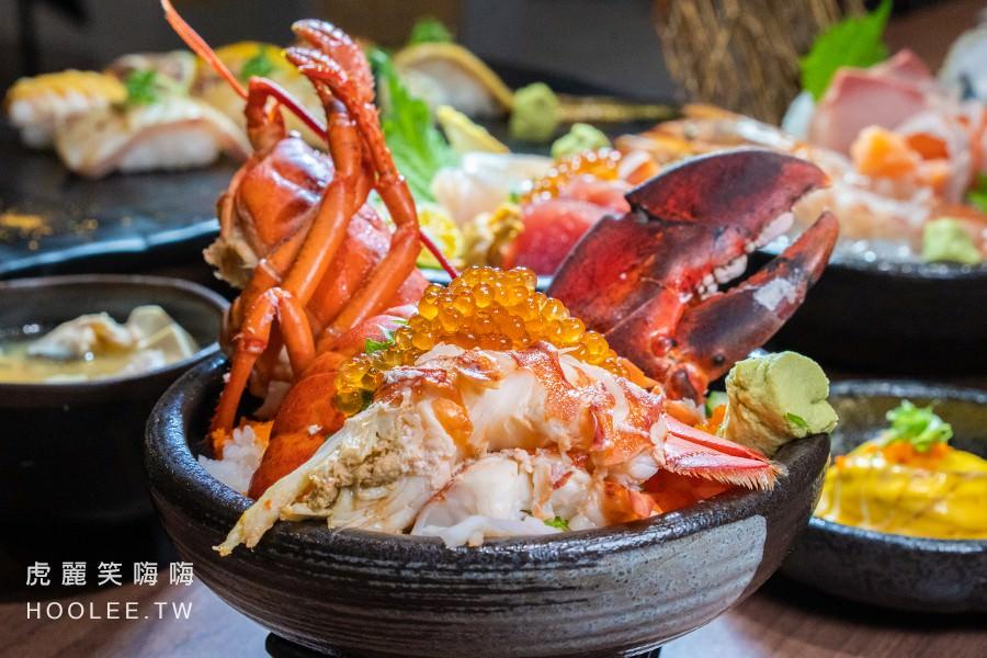 纓風壽司(台南)超霸氣丼飯料理!激推波士頓龍蝦武士丼,內用鮮魚味噌湯無限量供應