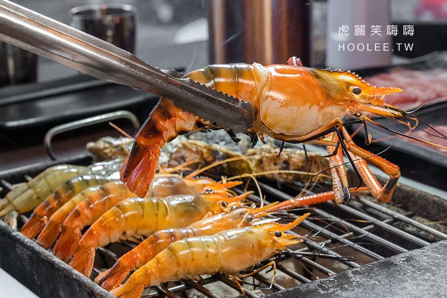 進吉海鮮燒肉炭烤(高雄)現撈泰國蝦吃到飽!鮮魚.現切肉品.白飯.飲料全部無限量供應