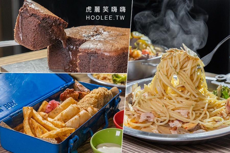 Nooice餐酒館(高雄)巷弄工業風餐廳!必點起司炸物工具組,還有X.o奶雞麵及爆漿布朗尼
