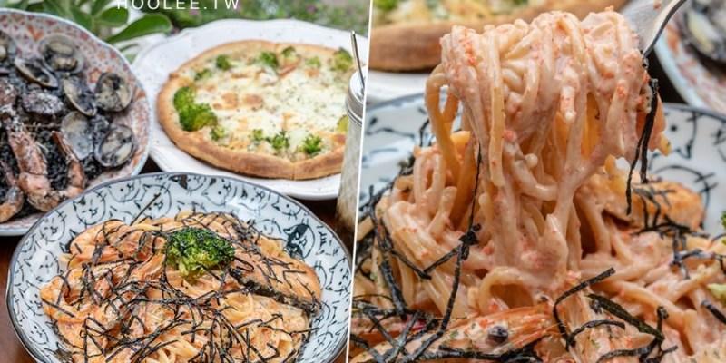 吃義碗麵(高雄)楠梓必訪隱密餐館!啵啵啵明太子義大利麵,還有起司奶油雞肉手工Pizza
