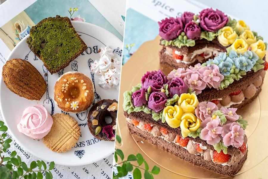 貝殼夫人(高雄)新堀江隱密甜點店!可愛的客製化彌月禮盒,超浮誇擠花數字蛋糕太夢幻