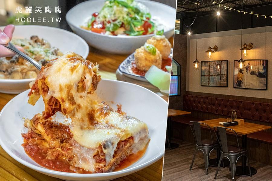 貝佛街義式餐廳(高雄)悅誠廣場美食!超厚肉醬起司千層麵,還有圓圓白醬玉琪及義式布丁