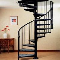 Indoor Outdoor Powder Coated Black Metal Spiral Staircase Price | Outdoor Spiral Staircase Prices | Stair Case | Wrought Iron | Stainless Steel Spiral | Handrail | Stair Parts
