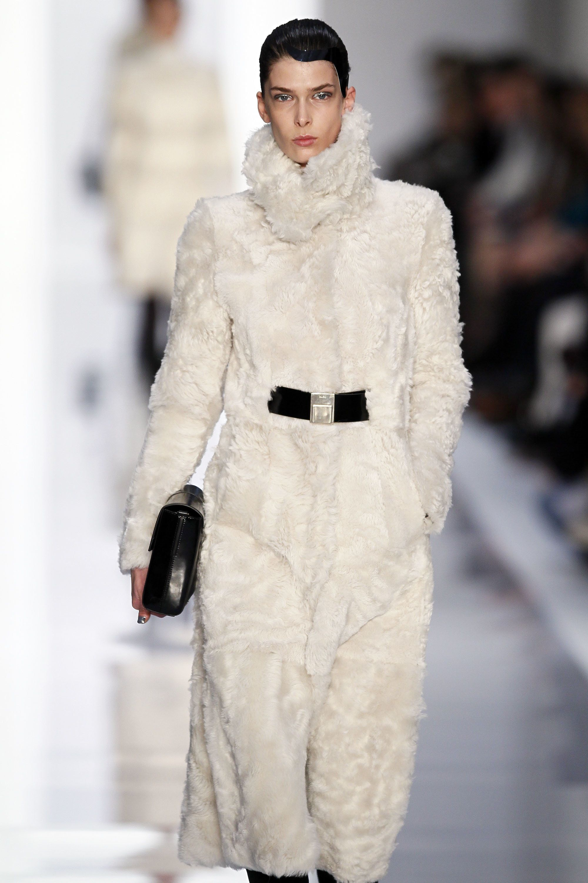 BERLIN, GERMANY - JANUARY 19:  A model walks the runway at the Hugo by Hugo Boss Autumn/Winter 2012 fashion show during Mercedes-Benz Fashion Week Berlin at Gemaldegalerie on January 19, 2012 in Berlin, Germany.  (Photo by Peter Michael Dills/Getty Images)