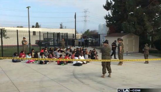 Four Southern California police officers were arrested on suspicion of child cruelty for allegedly abusing more than a dozen boys and girls at a boot camp.