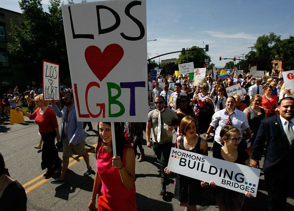 "<span class='image-component__caption' itemprop=""caption"">Mormons Building Bridges group leads the annual Gay Pride Parade through downtown Salt Lake City, Sunday, June 3, 2012. </span>"