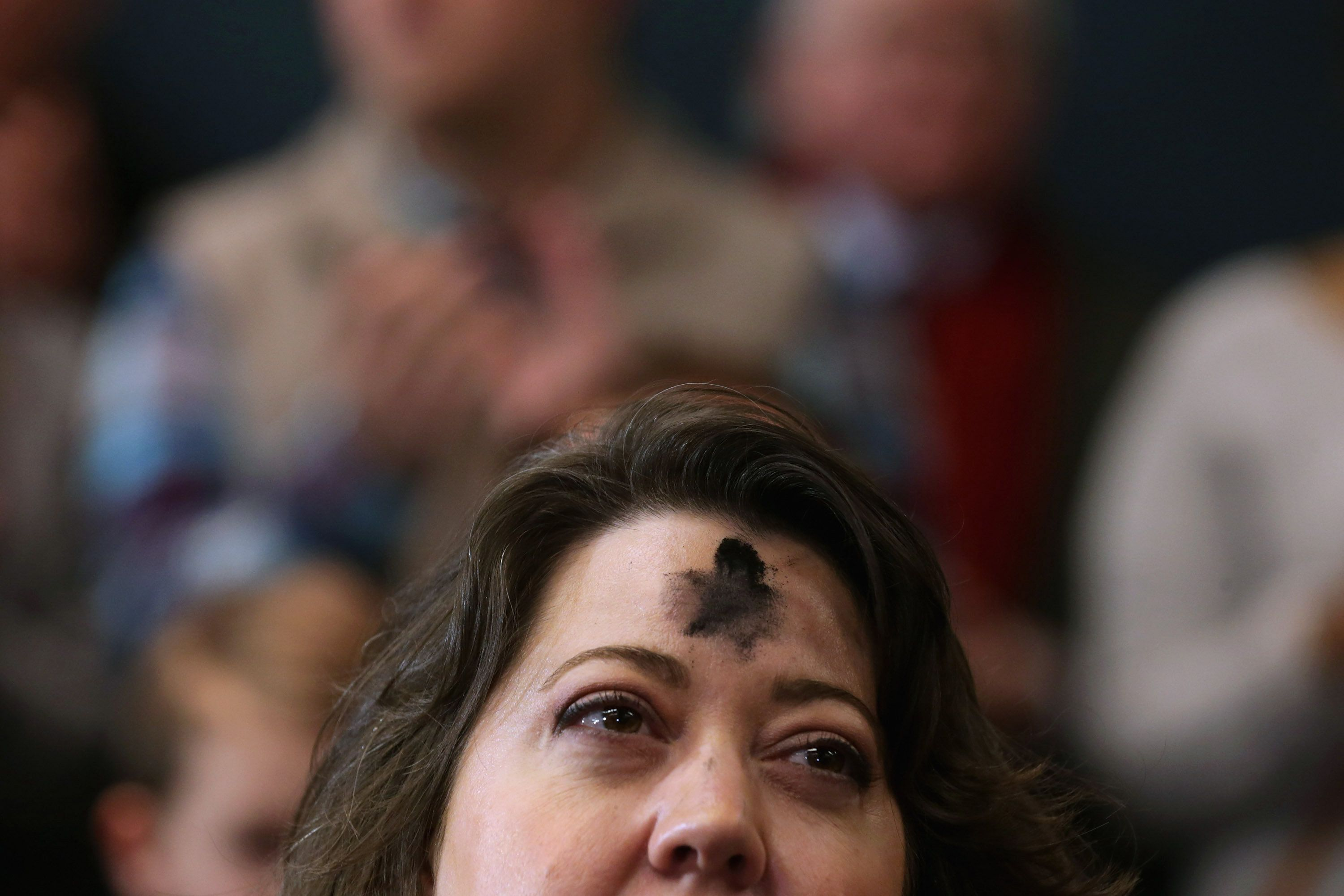 Image result for What's that stuff on everyone's forehead? It's Ash Wednesday GETTY IMAGE