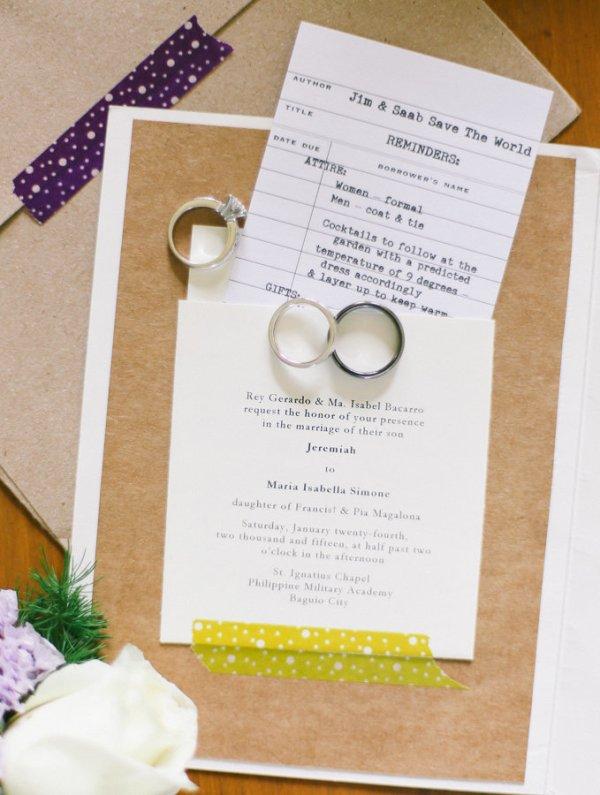 Cute Ticket Wedding Invitation