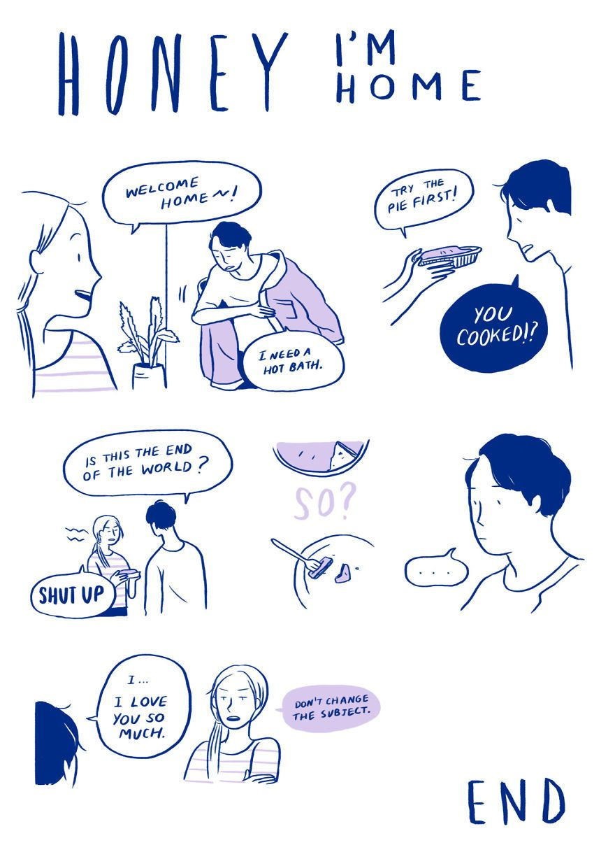 9 Relatable Comics That Capture The Non Cheesy Side Of