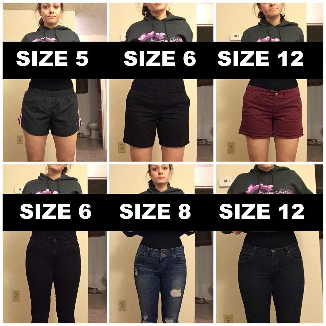 Woman Poses In Varying Pants Sizes To Make A Point About